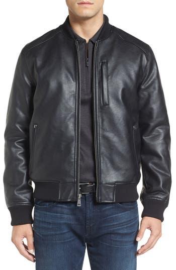 Men's Cole Haan Faux Leather Varsity Jacket