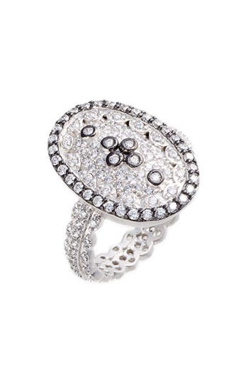 Women's Freida Rothman Pave Cubic Zirconia Clover Ring