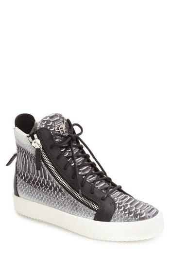 Men's Giuseppe Zanotti Snake Print High Top Sneaker