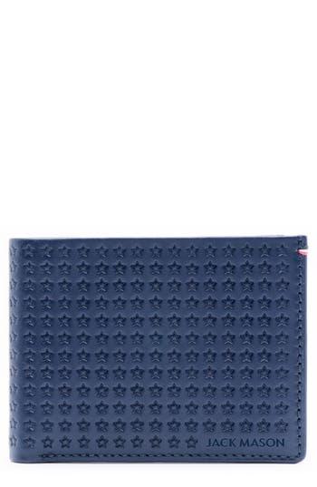 Jack Mason Star Leather Bifold Wallet -