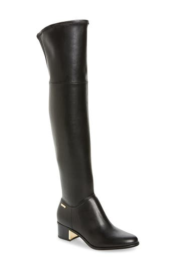 Calvin Klein Carli Water Resistant Over The Knee Boot