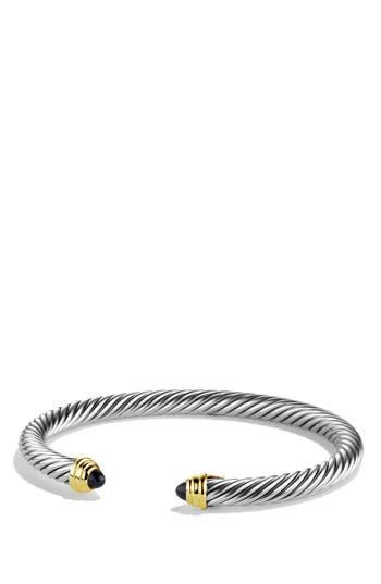 Women's David Yurman 'Cable Classics' Bracelet With Semiprecious Stones & Gold