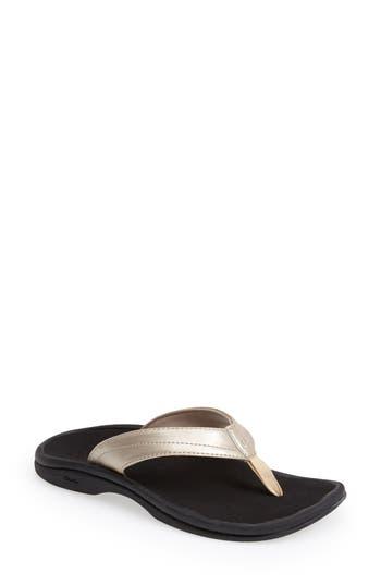 Women's Olukai 'Ohana' Sandal, Size 5 M - Metallic