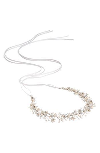 Brides & Hairpins Ines Pearl & Jeweled Halo & Sash, Size One Size - Metallic