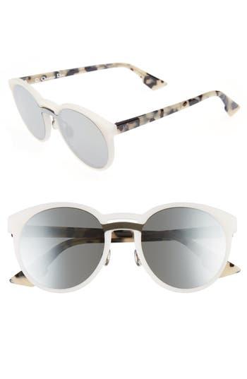 Dior Onde 1 50Mm Round Sunglasses - Matte White/ Havana