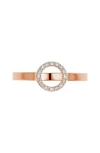 Women's Monica Vinader Naida Diamond Mini Circle Ring