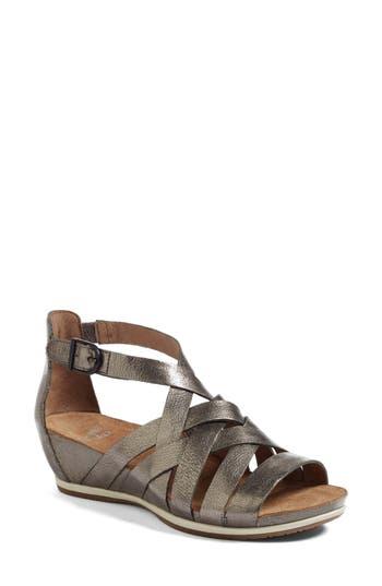 Women's Dansko Vivian Gladiator Sandal, Size 9.5-10US / 40EU M - Metallic