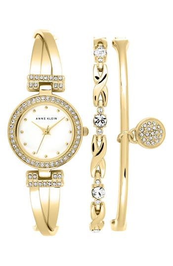 Women's Anne Klein Watch & Bangles Set, 24Mm