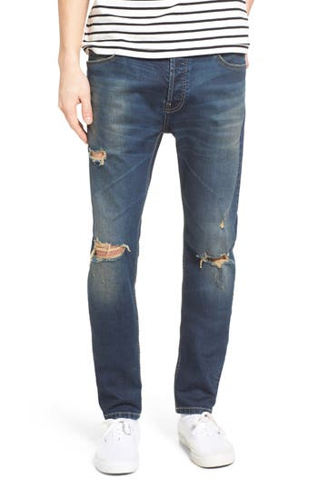 Men's Topman Ripped Stretch Skinny Fit Jeans