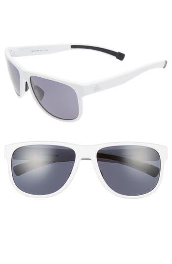Women's Adidas Sprung 60Mm Sunglasses - White Matte/ Grey
