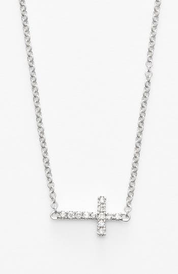 Women's Bony Levy Reversible Diamond Cross Pendant Necklace (Nordstrom Exclusive)