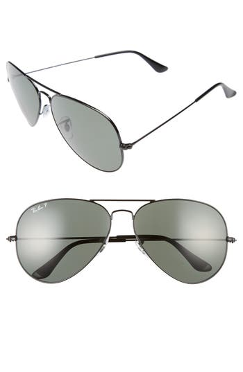 Ray-Ban Icons 62Mm Polarized Aviator Sunglasses -