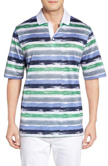 Men's Bugatchi Brushstroke Stripe Polo