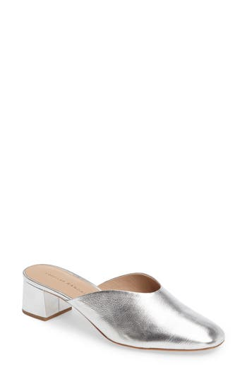 Women's Loeffler Randall Lulu Block Heel Mule, Size 10.5 M - Metallic