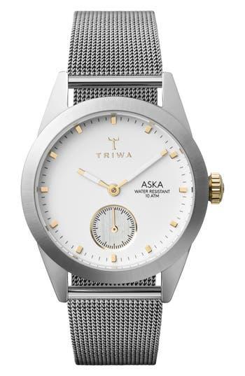 Women's Triwa Aska Mesh Strap Watch, 32Mm