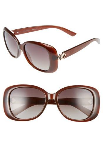Unique Retro Vintage Style Sunglasses & Eyeglasses Womens Polaroid 55Mm Polarized Butterfly Sunglasses - Brown $65.00 AT vintagedancer.com