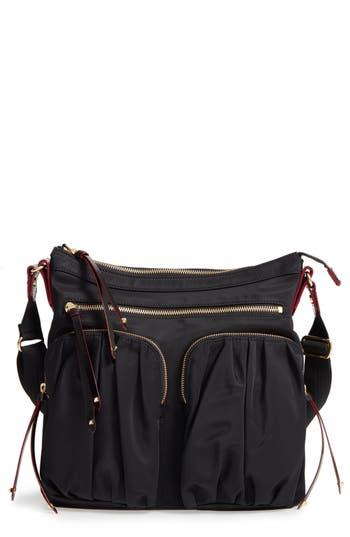 Mz Wallace 'Mia' Bedford Nylon Crossbody Bag - Black