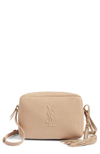 1a40deabe8d Saint Laurent Small Mono Leather Camera Bag - Beige In Dark Beige ...