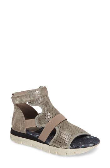 Women's Otbt Astro Perforated Gladiator Sandal, Size 7.5 M - Metallic