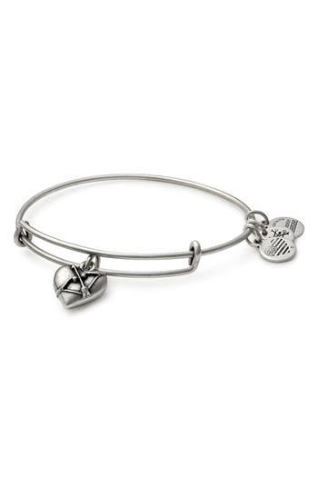 Women's Alex And Ani Cupid's Heart Expandable Charm Bracelet