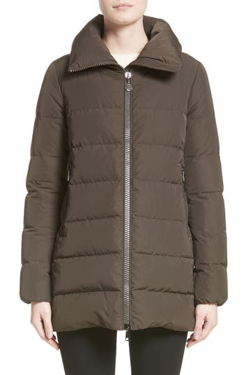 Moncler Petrea Quilted Down Puffer Jacket, Green