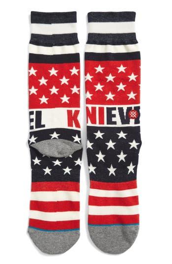 Men's Evel Knievel X Stance Gladiator Socks, Size Large - Red