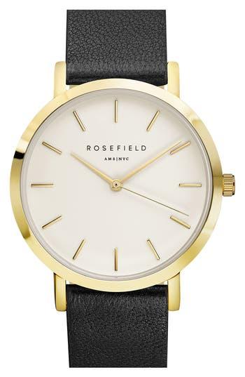 Women's Rosefield Gramercy Leather Strap Watch, 38Mm