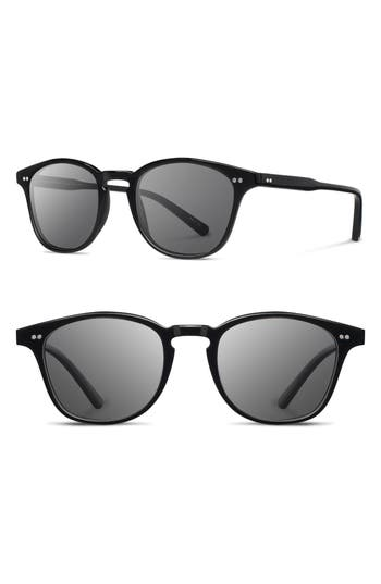 Men's Shwood Kennedy 50Mm Polarized Sunglasses - Black/ Grey Polarized