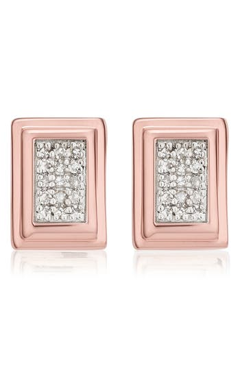 Women's Monica Vinader Baja Deco Diamond Stud Earrings
