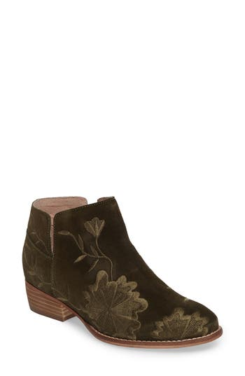Seychelles Lantern Embroidered Short Bootie- Green