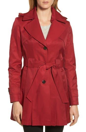 Women's Via Spiga 'Scarpa' Hooded Single Breasted Trench Coat
