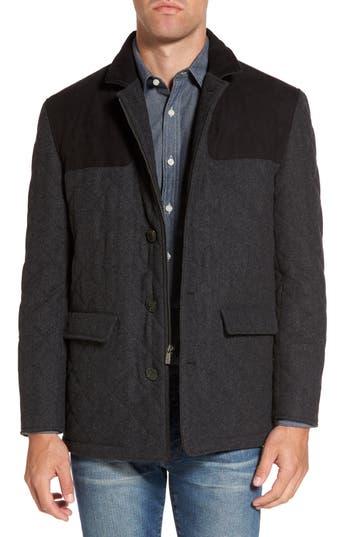Men's Hart Schaffner Marx 'Shooter' Wool Blend Quilted Jacket