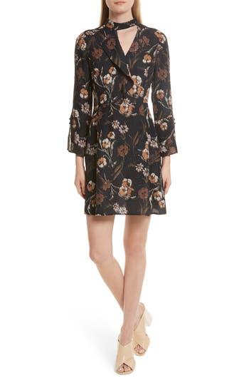 Women's Derek Lam 10 Crosby Cascade Floral Silk Blend Dress