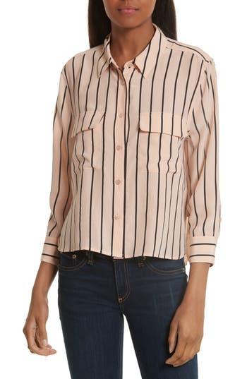 Women's Equipment Signature Crop Stripe Silk Shirt
