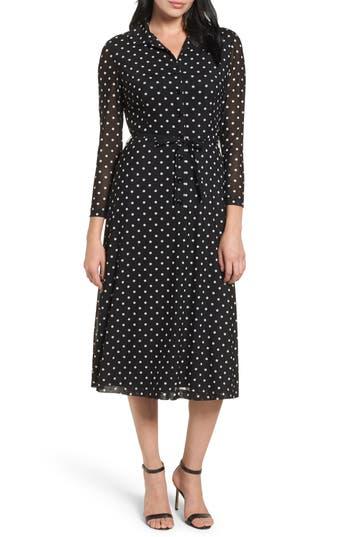 Women's Anne Klein New York Polka Dot Shirt Dress