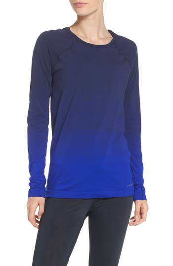 Women's Brooks Drilayer Top, Size Small - Blue