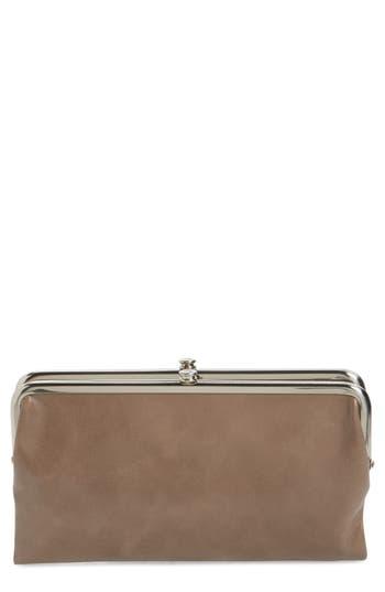 Women's Hobo 'Lauren' Leather Double Frame Clutch - Grey