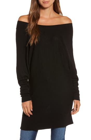 Women's Trouve Off The Shoulder Sweater Tunic