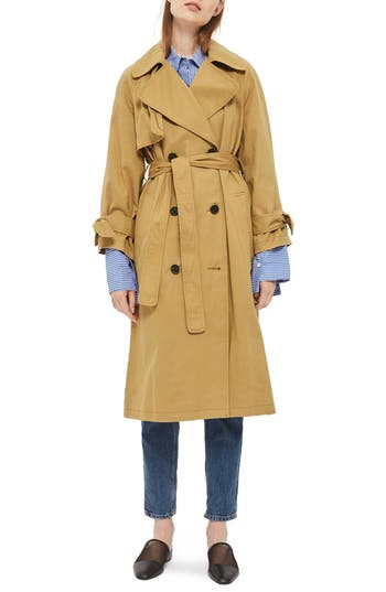 Women's Topshop Editor's Double Breasted Trench Coat