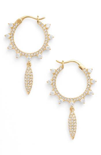 Women's Nadri Cardamom Charm Hoop Earrings