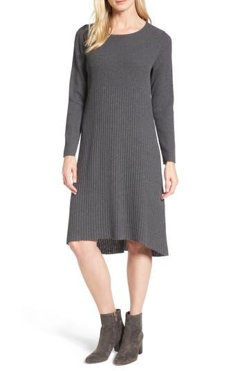 Women's Eileen Fisher Ribbed Wool Sweater Dress