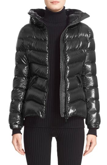 Moncler Anthia Water Resistant Shiny Nylon Hooded Down
