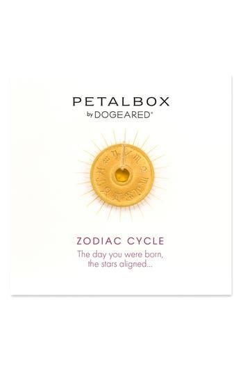 Women's Dogeared Petalbox Zodiac Enhancer (Nordstrom Exclusive)