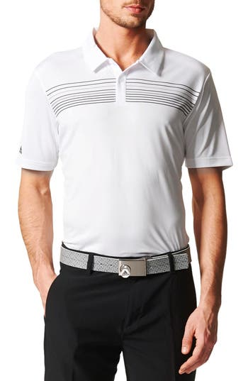 Men's Adidas Chest Stripe Golf Polo