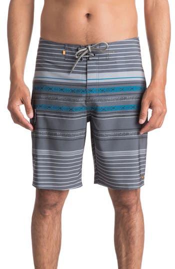 Quiksilver Waterman Collection Inca Stripe Board Shorts, Black