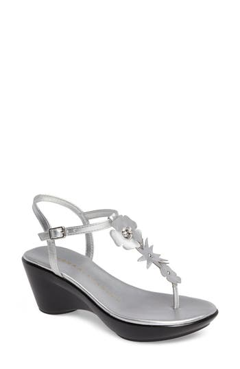 Women's Athena Alexander Gianna Embellished T-Strap Wedge
