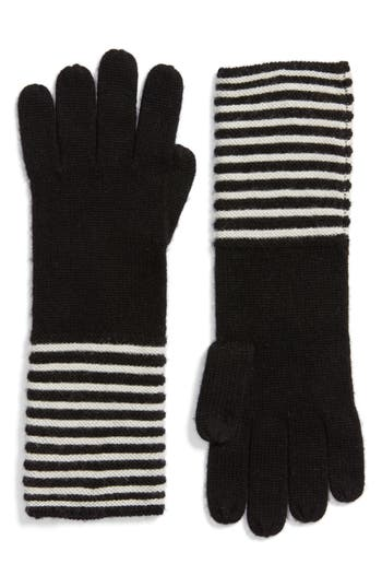 Women's Michael Michael Kors Double Links Wool & Cashmere Gloves, Size One Size - Black
