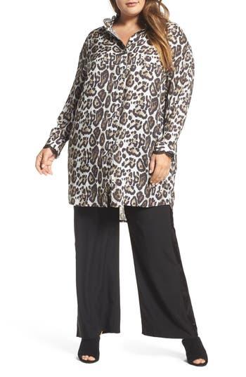 Plus Size Women's Elvi Oversize Leopard Print Blouse