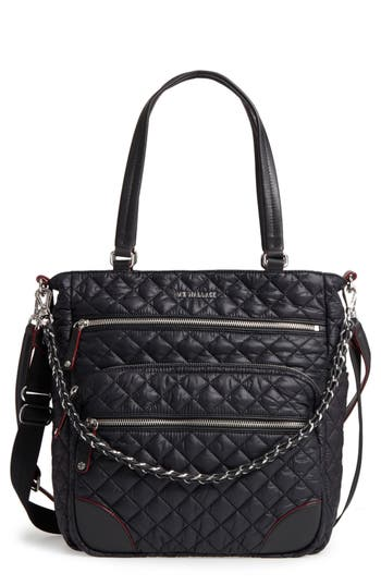 Mz Wallace Crosby Quilted Oxford Nylon Tote -