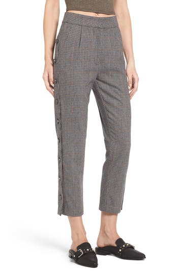 Women's J.o.a. Button Side Crop Trousers